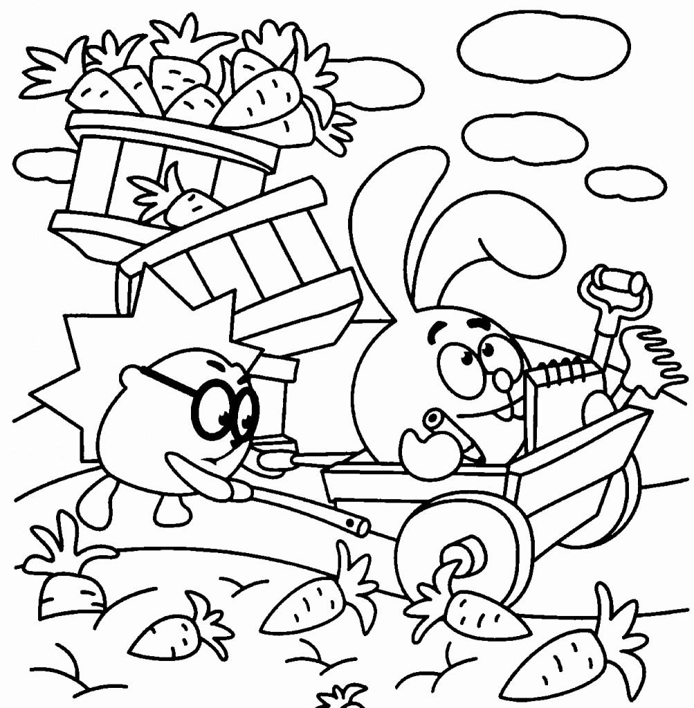 Раскраска для мальчиков смешарики - 4